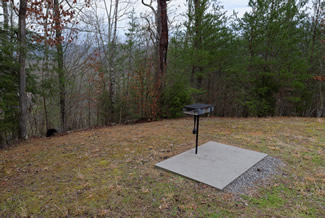 Pigeon Forge Cabin Rental Outdoor Charcoal Cooking Grill