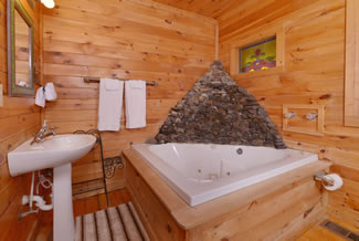 Pigeon Forge Cabin Rental Indoor Whirlpool Area