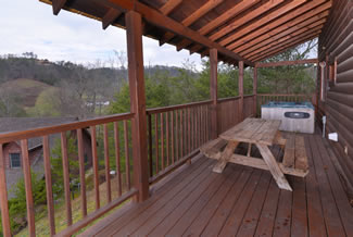 Pigeon Forge Cabin Rental Seating Area