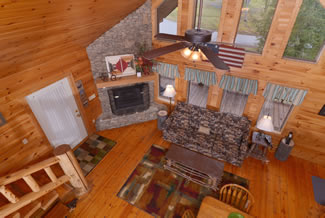 Pigeon Forge Cabin Rental Loft Area