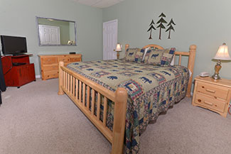 Pigeon Forge Three Bedroom Cabin Rental Chalet Rental