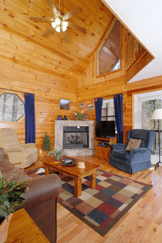 Pigeon Forge Tennessee Two Bedroom Vacation Chalet Rentals