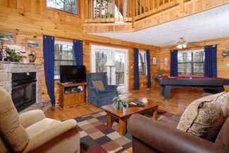 Pigeon Forge Tennessee Vacation Two Bedroom Chalet Rental