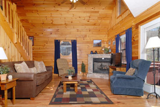 Pigeon Forge Two Bedroom Cabin Rental Near Dollywood