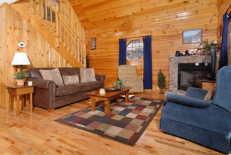 Pigeon Forge Two Bedroom Cabin Rental Featuring a Pool Table Hot Tub and Convenience to Area Attractions Like Dollywood-Dollys Splash Country