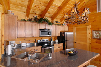 Pigeon Forge Riverfront Cabin Kitchen