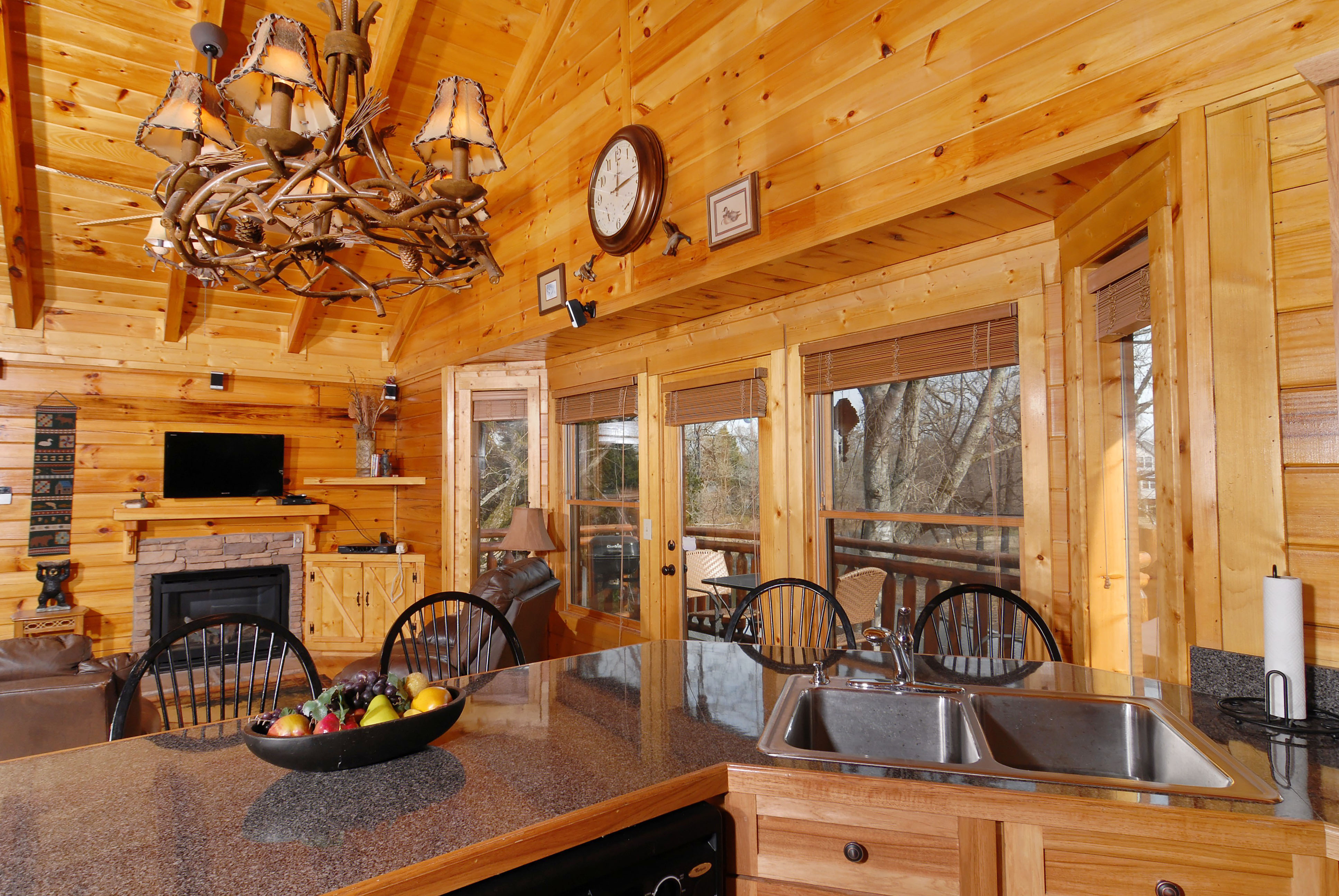 Pigeon Forge Riverfront Two Bedroom Vacation Cabin Rental