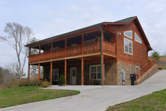 secluded pigeon forge chalet