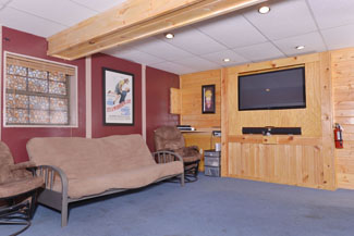 Pigeon Forge Tennessee Three Bedroom Cabin Rental Featuring a Theater System