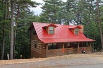 Pigeon Forge Two Bedroom Log Cabin Rental Convenient to Pigeon Forge