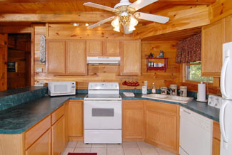 Pigeon Forge Cabin with a kitchen