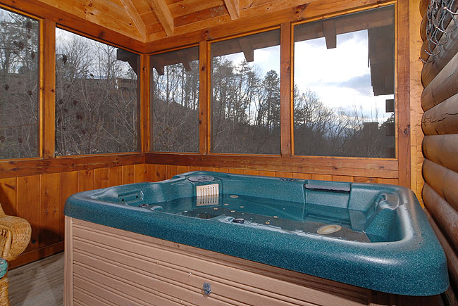 cabins two hot cabin lake in pigeon forge lakeview bedroom log tub s pigeonforgecaneycreektwobedroomchaletrental lakehouse lisa rental access