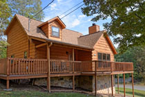 Pigeon Forge Two Bedroom Affordable Pet Friendly Cabin Rental