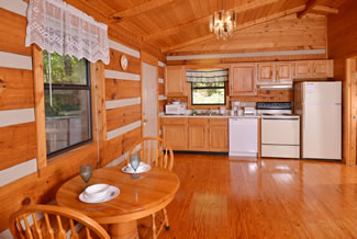 Secluded Cabin Rental Fully Equipped Kitchen
