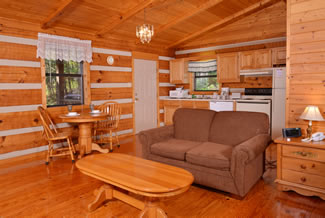 Pigeon Forge Studio Cabin Rental Dinning Area