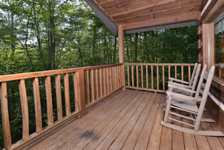 Pigeon Forge Cabin Rental Outdoor Rocking Chairs