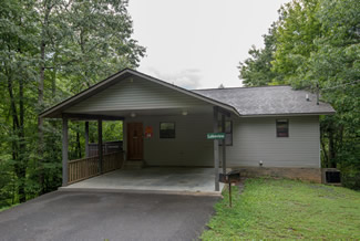 Pigeon Forge Two Bedroom Cabin Rental that is tucked away in a secluded setting