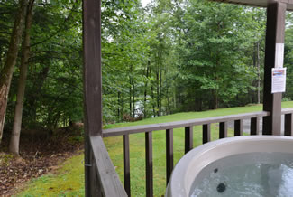 Pigeon Forge TN Secluded Two Bedroom Cabin Rental Near Stocked Lake and Private Hiking Trails