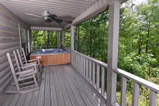 Tennessee Smoky Mountain Secluded Vacation Cabin Rental