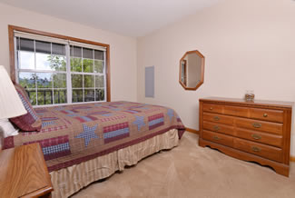 Pigeon Forge Cabin rnetal that has a Queen Size Bed in the Bedroom