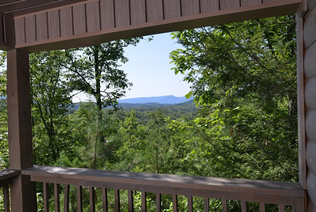 Pigeon Forge One Bedroom Cabin Rental Mountain View