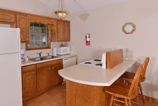 Pigeon Forge Cabin Rental Fully Equipped Kitchen