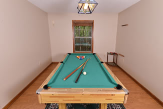 Pigeon Forge Two Bedroom Secluded Pool Table Cabin Rental