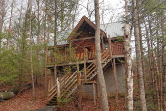 Pigeon Forge Secluded Pet Friendly One Bedroom Cabin