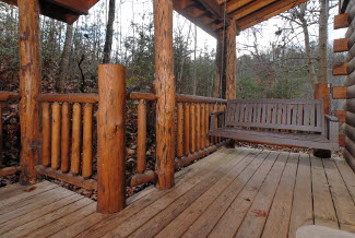 Pigeon Forge Secluded One Bedroom Pet Friendly Cabin Swing