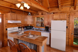 Tennessee Vacation Cabin Rental Two Bedroom Fully Equipped Kitchen