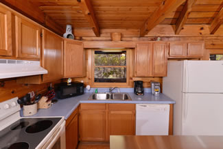 Gatlinburg Two Bedroom Cabin Rental Fully Equipped Kitchen