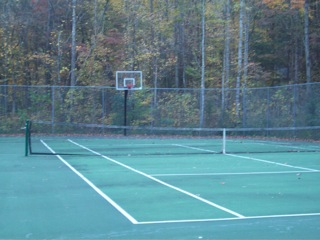 Pigeon Forge Shagbark association tennis court