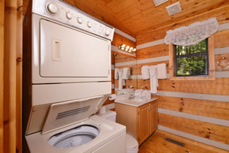 Pigeon Forge Cabin Rental Washer and Dryer