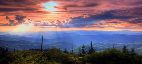 Great Smoky          Mountains National Park Only Minutes Away from Fireside Chalets and Cabin Rentals-Overnight Vacation Cabin Rentals
