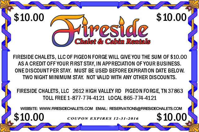 Fireside Chalets-Pigeon Forge-Gatlinburg-Tennessee Vacation