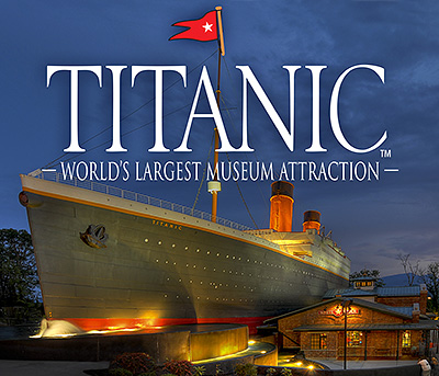Pigeon Forge Tennessee Titanic exhibit in Pigeon Forge Tennessee