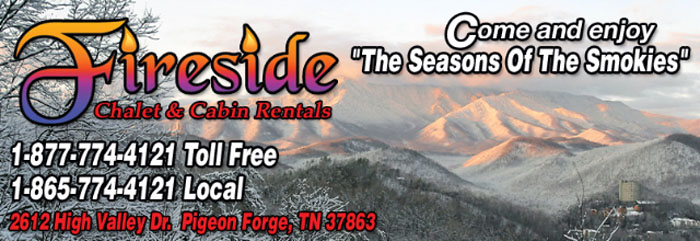 "Fireside Chalets in Pigeon Forge, Tennessee offers so many ways to enjoy the ""Seasons of the Smokies"""