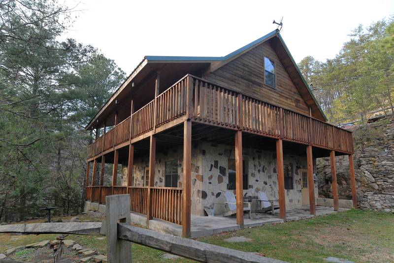 Walden creek 112 log cabin in pigeon forge tennessee for Grandview lofted barn cabin