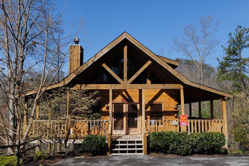 Wears Valley 121   Pigeon Forge One Bedroom Plus Loft Cabin Rental  Featuring a King Size Bed in the Main. Theater Room Cabins and Chalets in Pigeon Forge Tennessee by