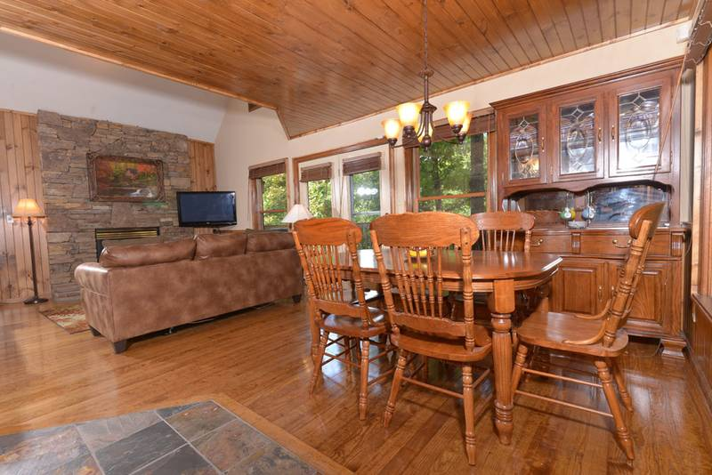 Kitchen Area in this Pigeon Forge Cabin Rental