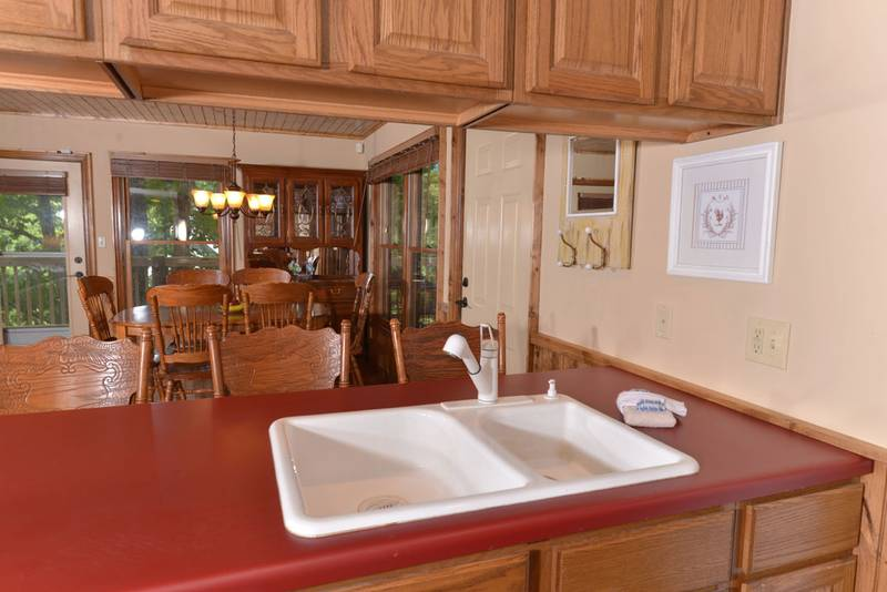 Fully Equipped Kitchen in this Pigeon Forge Cabin Rental