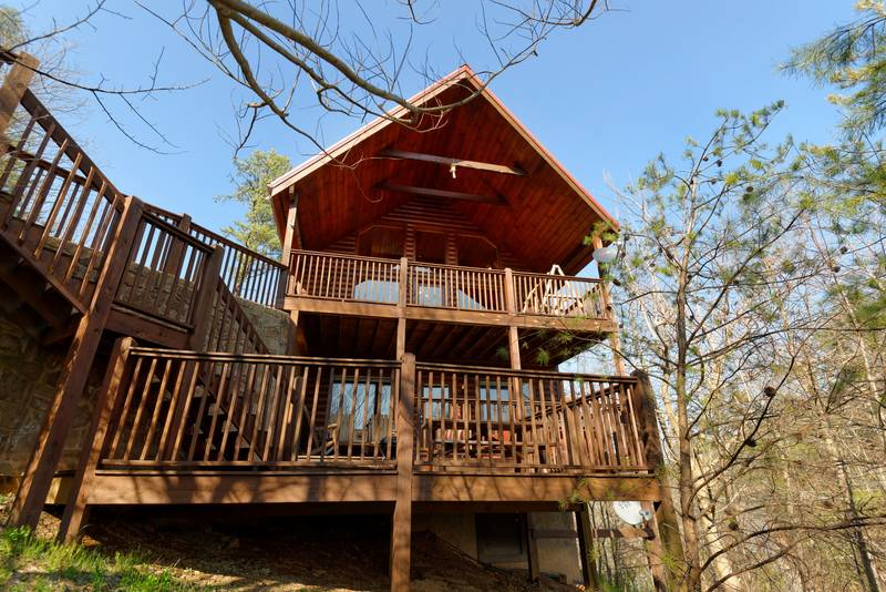 Pigeon Forge Secluded One Bedroom Cabin Rental. A Cut Above   1 Bedroom Cabin Rental   Hideaway Hills Estates