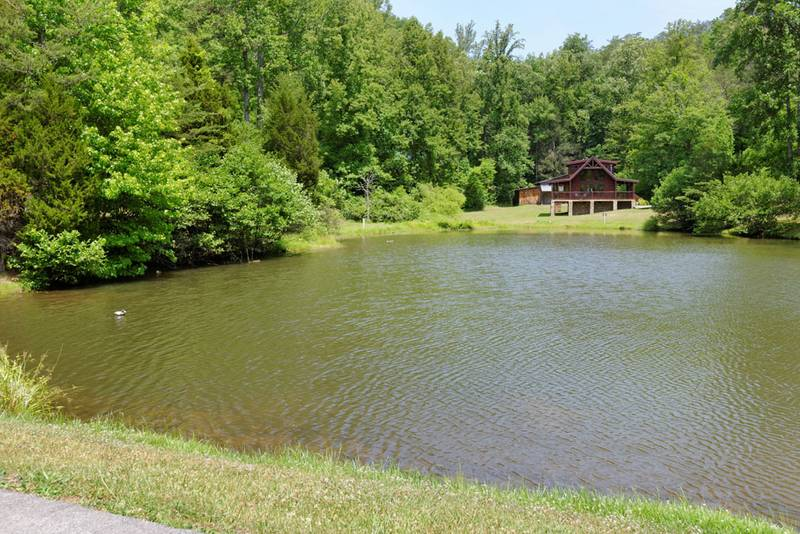 Pigeon forge tennessee convenient two bedroom cabin rental for Fishing in pigeon forge tn