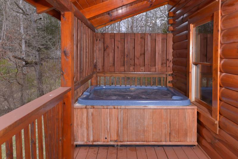 Pigeon Forge One Bedroom Cabin Rental with swimming pool access