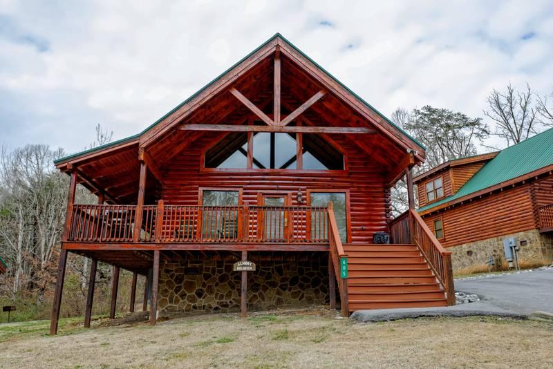 Almost Heaven Blackberry Ridge 1 Bedroom Log Cabin Rental