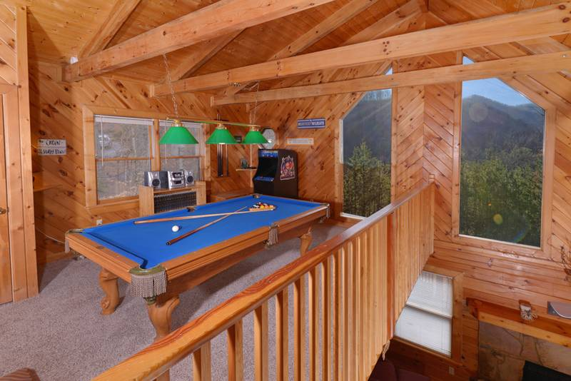 Pigeon Forge 95 Shagbark Two Bedroom Two Bath Pool Table