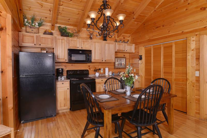 Two Bedroom Vacation Cabin Rental Fully Equipped Kitchen