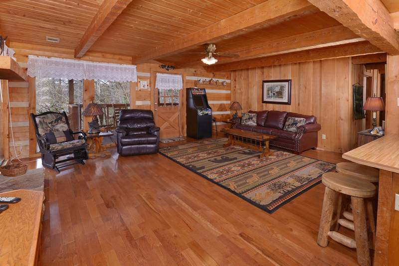 Pigeon Forge Two Bedroom Cabin Rental Hot Tub Internet