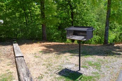 Pigeon Forge Cabin Outdoor Charcoal Area