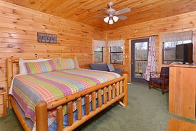 Lower Level Bedroom that Features additional sleeper sofa and a Flat Screen Television